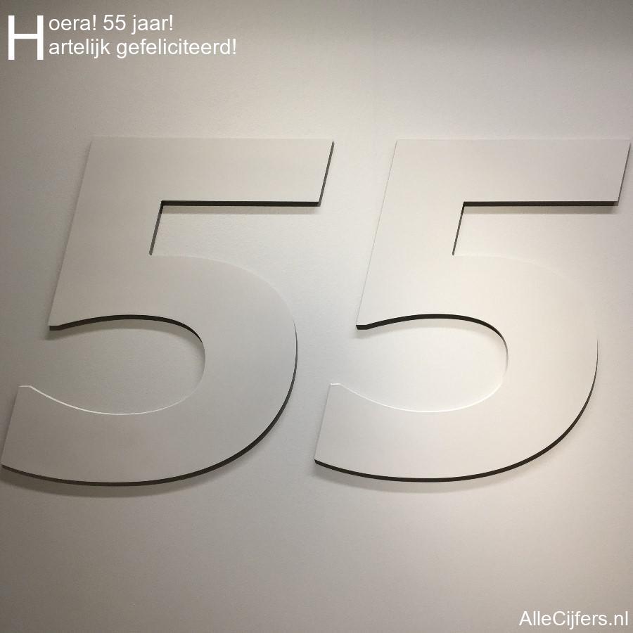Verrassend Hoera 55 jaar! Felicitatie afbeelding. (update 2020!) | AlleCijfers.nl LD-96